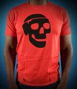 Image of Red Braindead Skull Tee