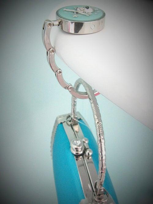 Image of Aqua Skullie Silver Bag Hook