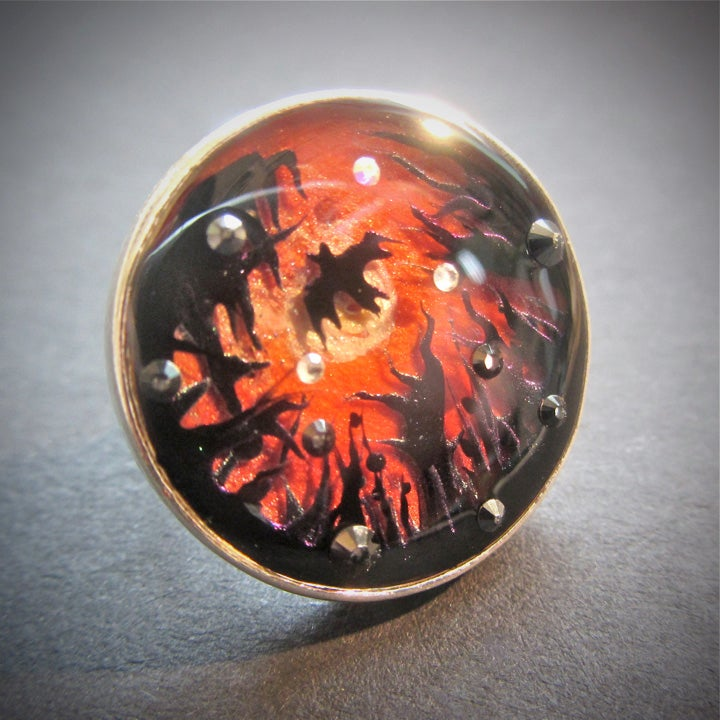 Image of Vampire's Sunset Silver Ring