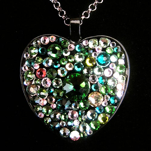 Image of Absinthe Rocks Black Heart Pendant