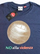 Image of Big Ball No Alla Violenza Navy T