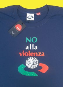 Image of Centre Spot No Alla Violenza  Navy T