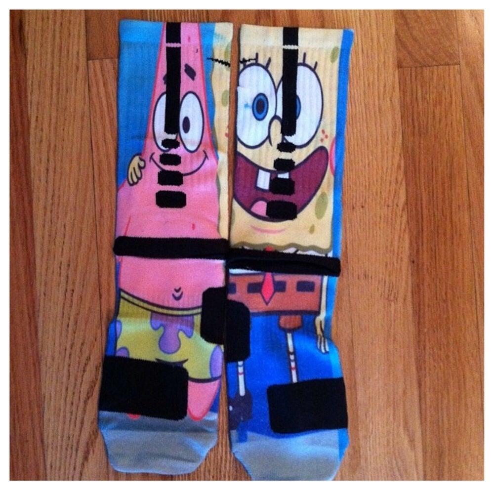 Mysockgamecrazy spongebob nike custom elite socks for Custom elite com