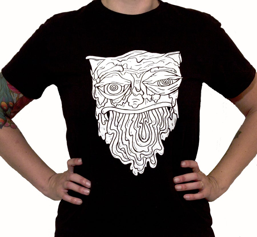 Image of White Vomit Cat Shirt