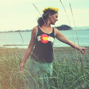 Image of Colorado Love Tanks- Women's Tri-Black