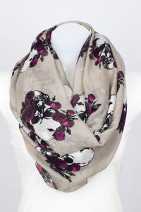 Image of Ladies - skull and roses scarfs