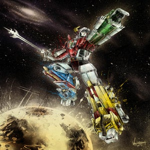 "Image of ""Defender of the Universe"" - Inspired by Voltron"