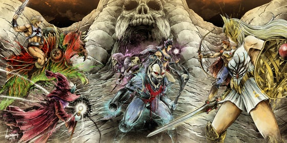 "Image of ""Battle of GraySkull"" - Inspired by Masters of the Universe"