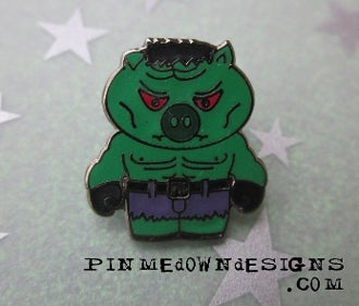 Image of Mini Guyute Hulk pin (Phish Animal Superhero #1 LE200)