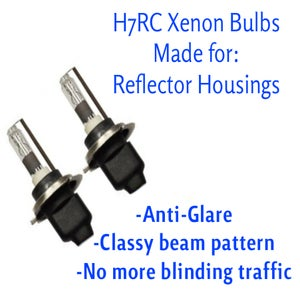 Image of New H7rc HID Xenon Bulb Includes 35w Slim Digital Ballast with CANBUS Adapter