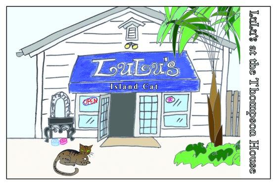 Image of Postcard 1 - Lulu's Blue Sign