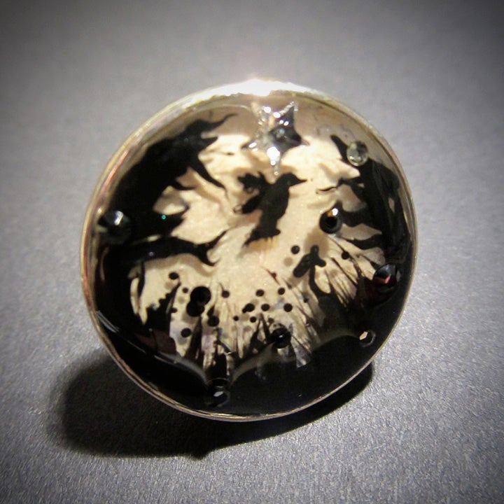 Image of Forest Macabre Silver Ring