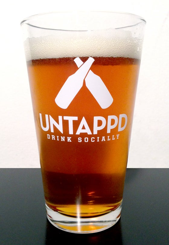 Image of Untappd Logo Pint Glass