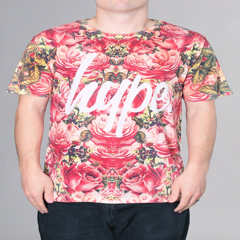 Image of HYPE. ALL OVER ROSES TEE