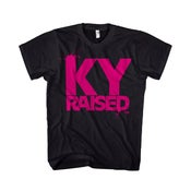 Image of KY Raised Female Tee in Black & Hot Pink