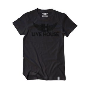 Image of Classic LH Wing Tee (Black on Black)