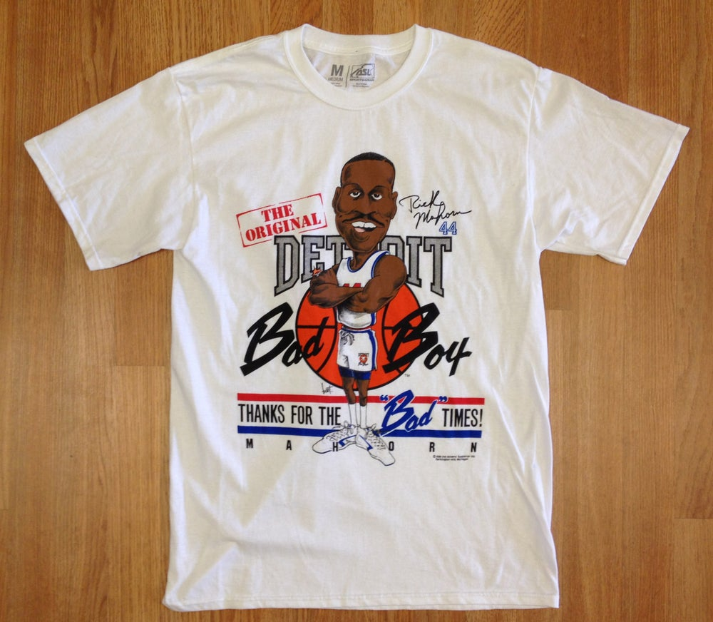 Image of Detroit Bad Boys Rick Mahorn Big Head Shirt