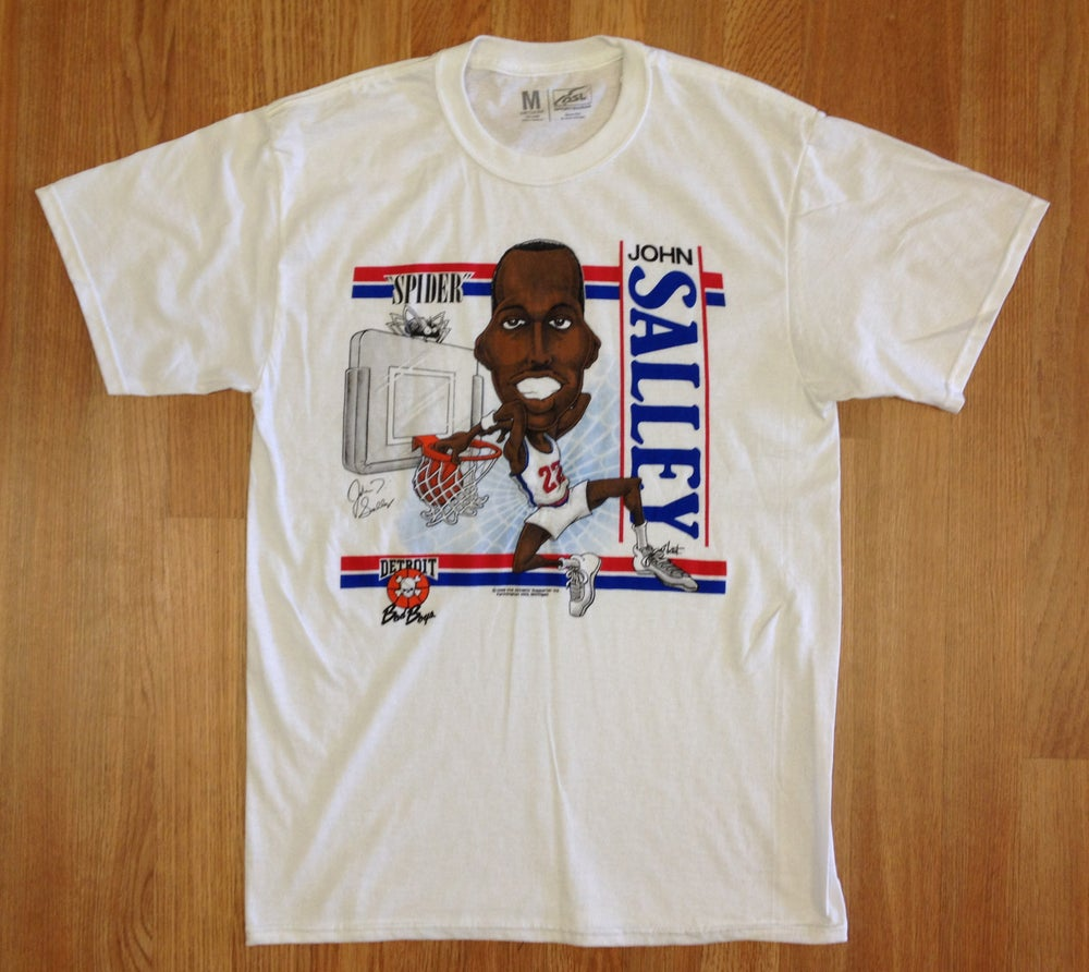 "Image of Detroit Bad Boys John ""Spider"" Salley Big Head Shirt"