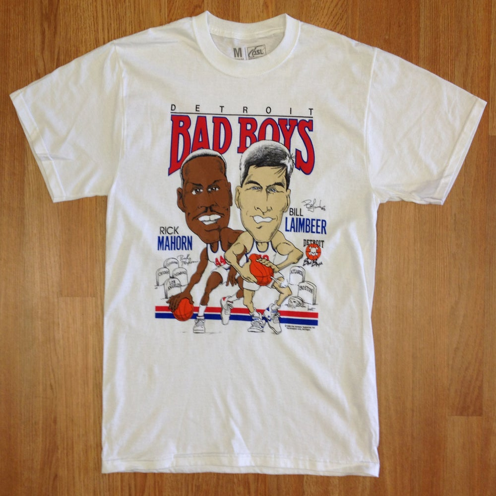 Image of Detroit Bad Boys Rick Mahorn & Bill Laimbeer Big Head Shirt