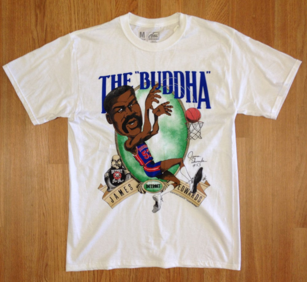 "Image of Detroit Bad Boys James ""Buddha"" Edwards Big Head Shirt"
