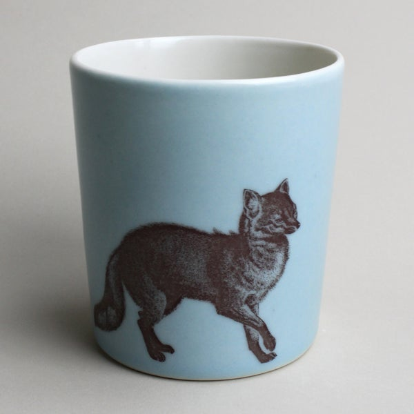 Image of 14oz tumbler with fox, ocean