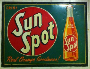Image of 1950 Sun Spot Soda Sign