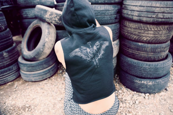 Image of Fallen Angel Hooded Fleece Top