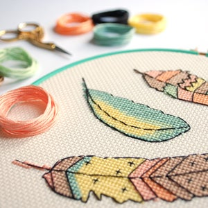 Image of Flutter cross-stitch PDF pattern