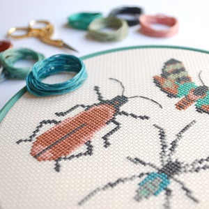 Image of Wine Bug Trio cross-stitch kit