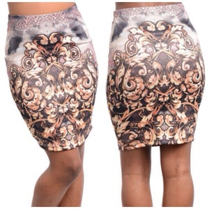Image of Print skirt