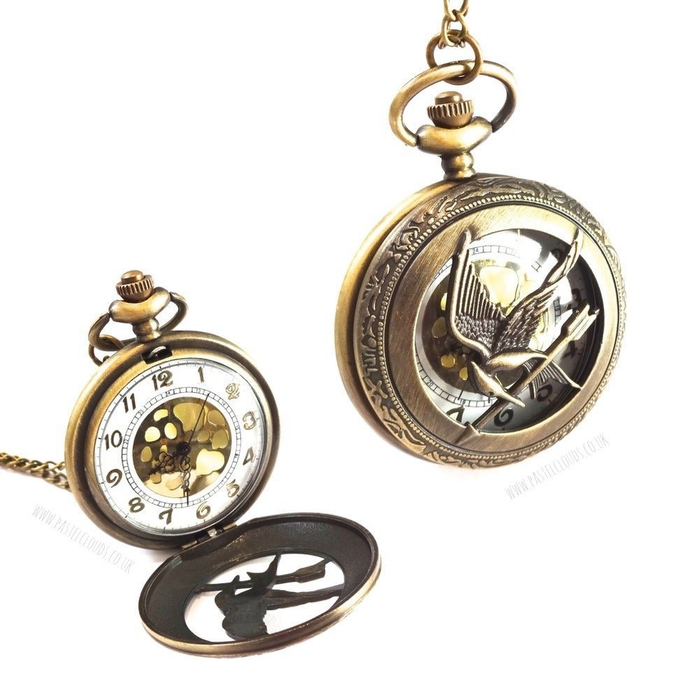 Image of HUNGER GAMES INSPIRED POCKET WATCH NECKLACE
