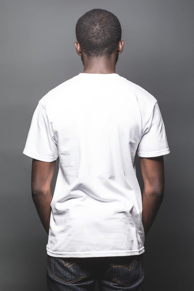 Image of GEO 14 BLACKOUT TEE (BLACK ON WHITE)