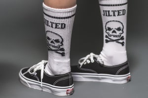 Image of DEATH SQUAD SOCKS - WHITE