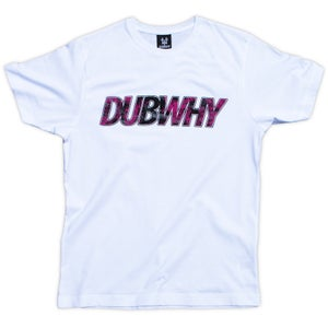 Image of 'DUBWHY' T-Shirt - White/Hot Pink