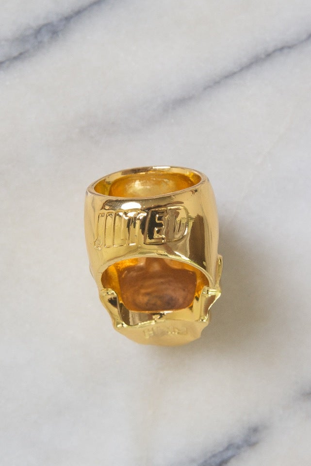 Image of DEATH SKULL RING (USA SIZE 9) - GOLD