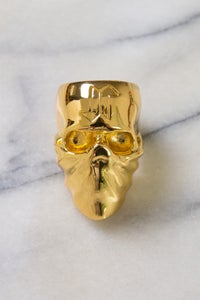 Image of DEATH SKULL RING - GOLD (USA SIZE 10)
