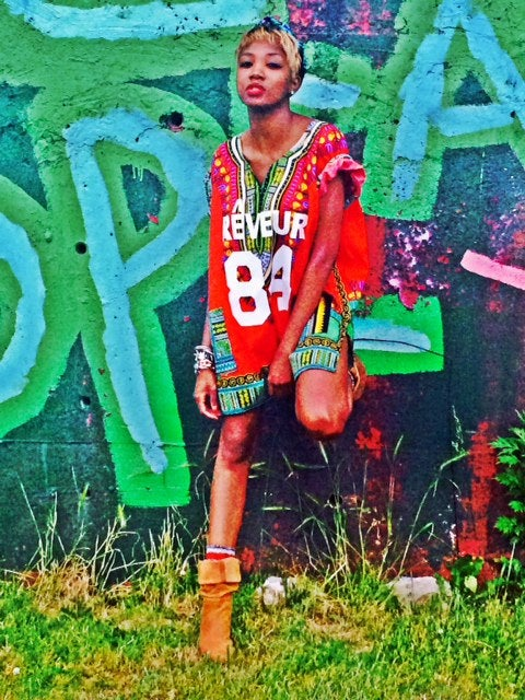 Image of RED RÊVEUR DASHIKI JERSEY
