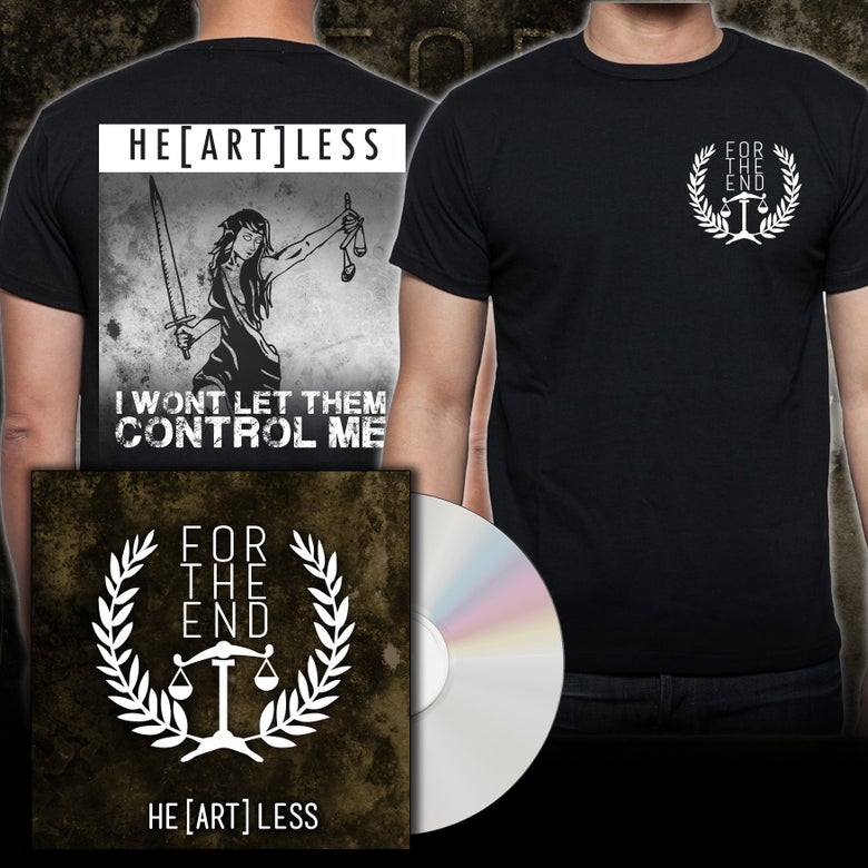 Image of HE(ART)LESS TEE + CD BUNDLE
