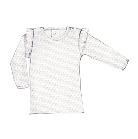 Image of Long Sleeve Shoulder Frill T-Shirt