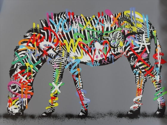 "Image of MARTIN WHATSON - ""ZEBRA"" PRINT, LTD EDITION OF 150 - 2014"