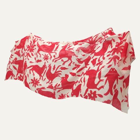 Image of Red shawl Big Animals