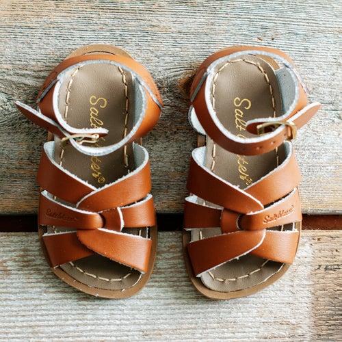 Image of Kids Tan Saltwater Sandals