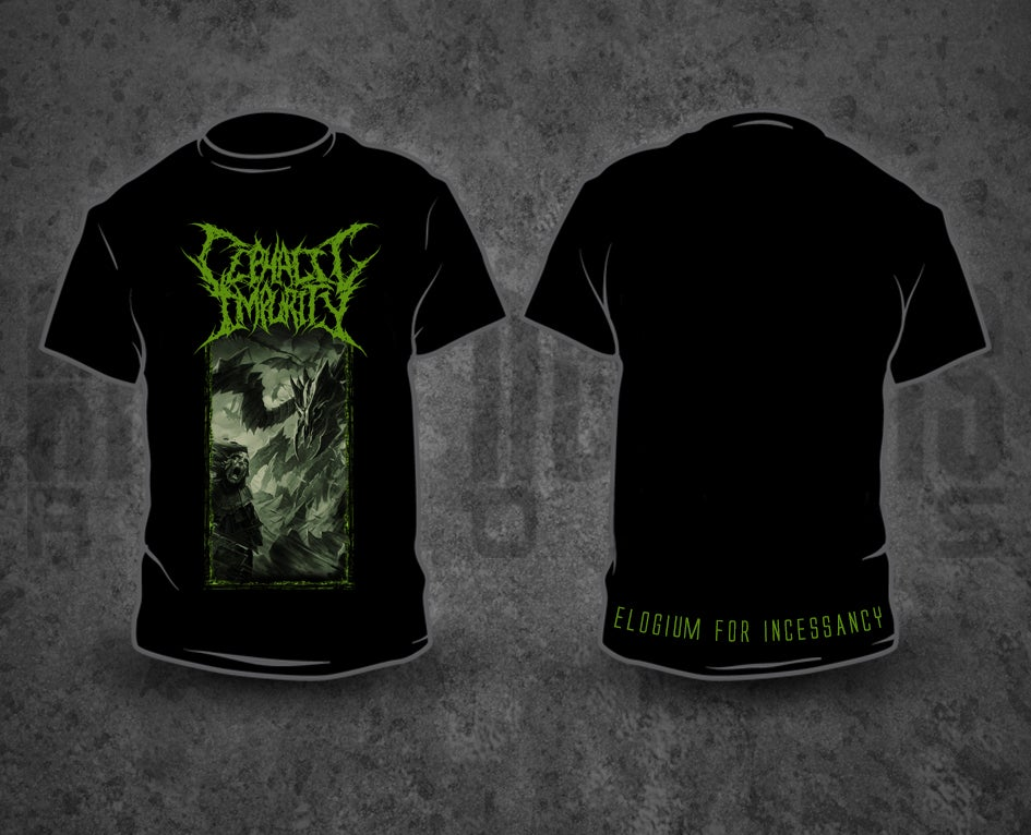 Image of CEPHALIC IMPURITY - Artwork Black T-Shirt
