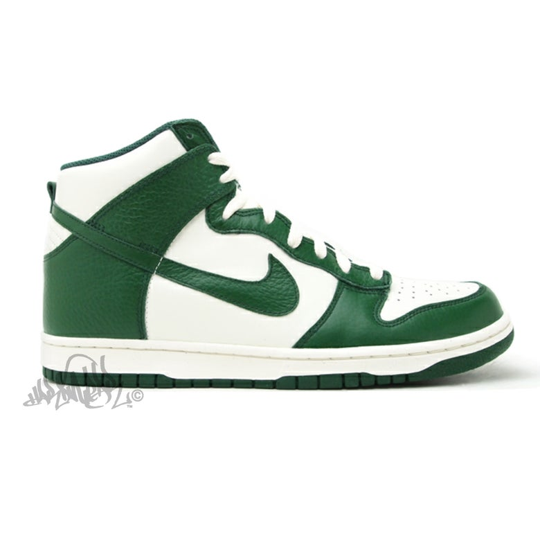 Image of NIKE DUNK HIGH 08 LE - Gorge Green - 317982 119
