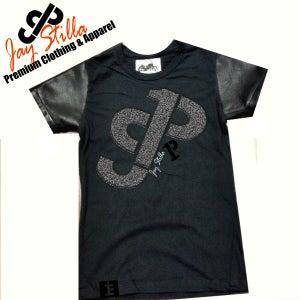 Image of Qaulity Producer T- Shirt 100% Premium Leather Sleeve Design by Jay Stilla