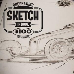 Image of The Hot Rod Art book: MOCS Vol 2 Custom Sketch in book