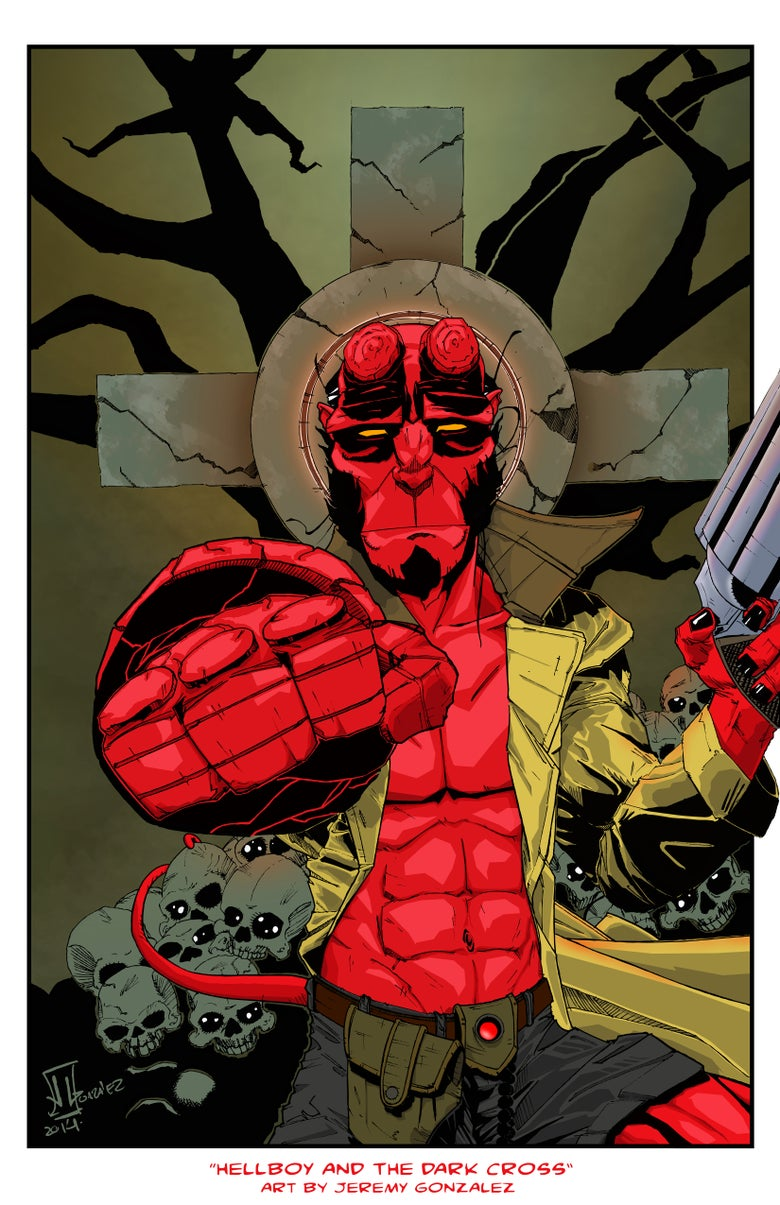 "Image of <font size=""3"">HELLBOY AND THE DARK CROSS</font><br><font color=""000000"">"