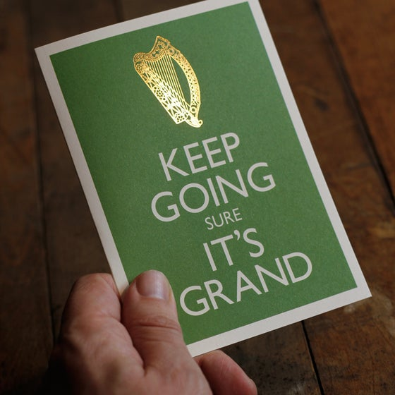 Image of KEEP GOING sure IT'S GRAND Greeting card (A6 with envelope)