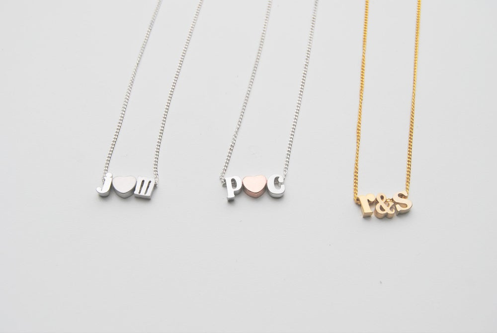 Image of Tiny Initial Love Necklace