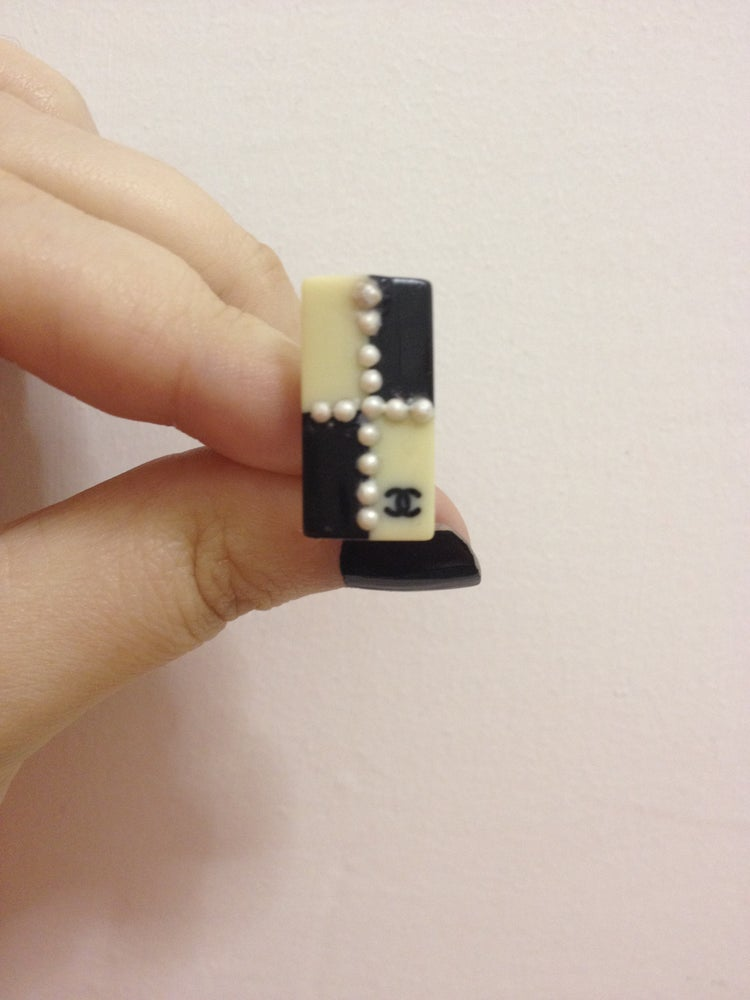 Image of SOLD OUT Chanel Authentic Black and White Earrings